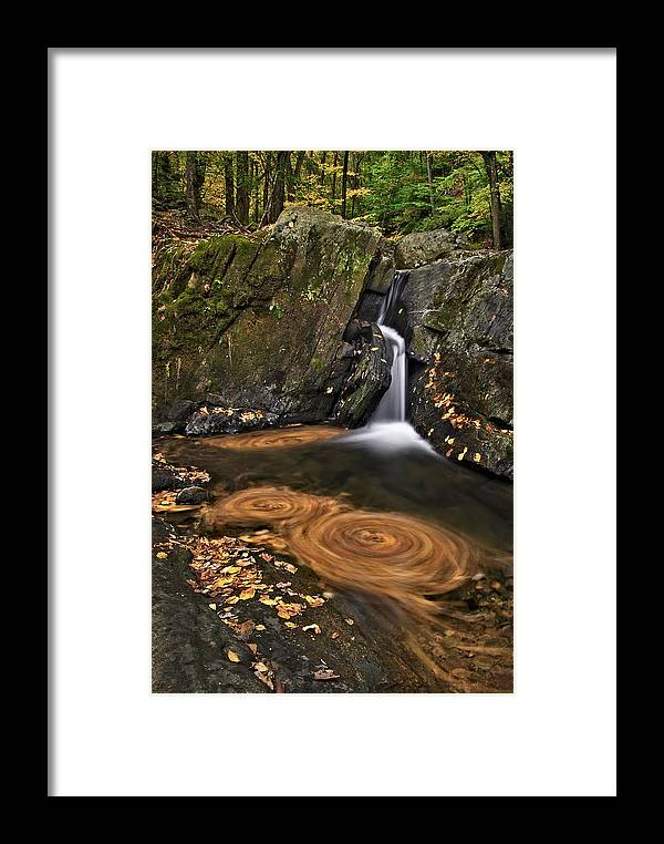 Waterfall Framed Print featuring the photograph Triple Swirls by Susan Candelario