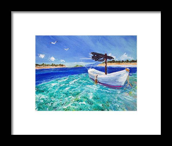 Seascape Framed Print featuring the painting Tropic Breeze by Robert Gross