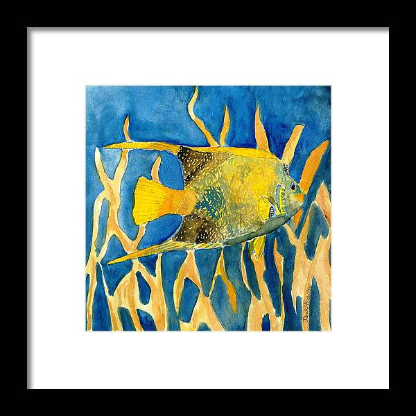 Tropical Framed Print featuring the painting Tropical Fish Art Print by Derek Mccrea