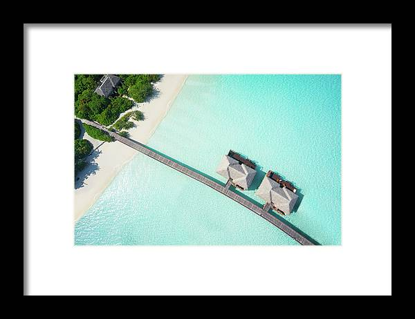 Outdoors Framed Print featuring the photograph Tropical Hideaway From Above by Amriphoto