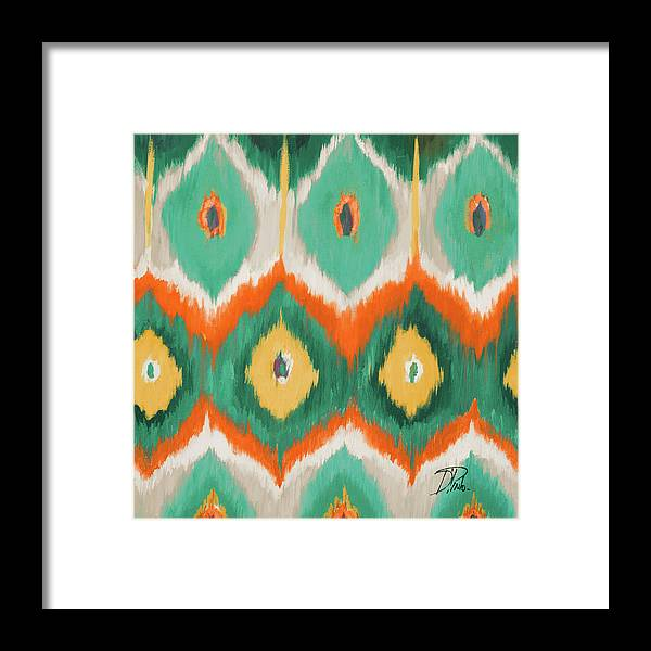 Tropical Framed Print featuring the painting Tropical Ikat II by Patricia Pinto