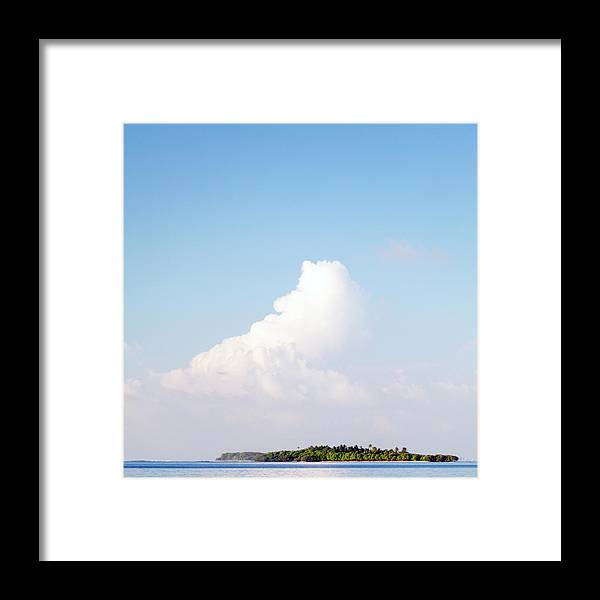 Tropical Tree Framed Print featuring the photograph Tropical Island In The Maldives by Subman