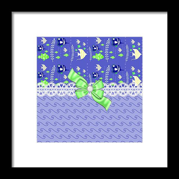 Fish Framed Print featuring the digital art Whimsical Purple Tropical Fish by DMiller