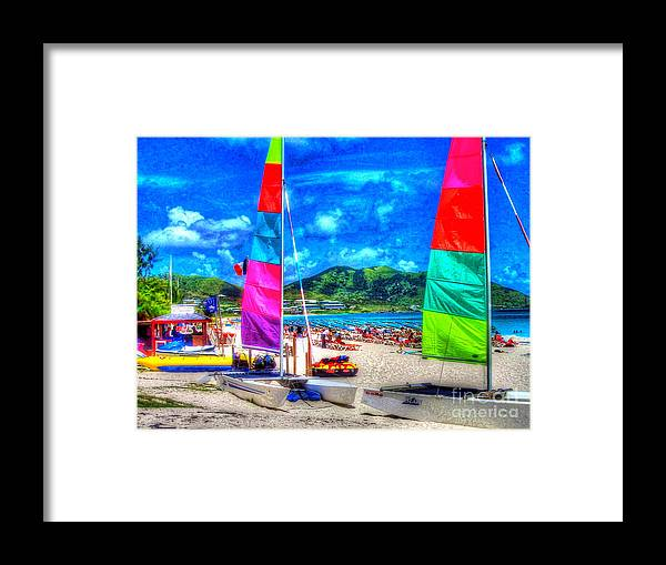 Sailboats Framed Print featuring the photograph Tropical Sails by Debbi Granruth