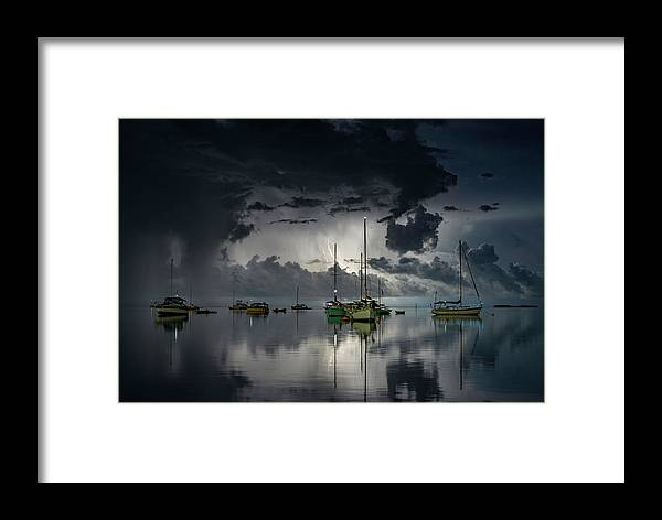 Boat Framed Print featuring the photograph Tropical Storm2 by Alexandru Popovski