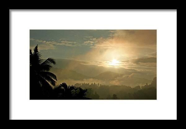 Sunrise Framed Print featuring the photograph Tropical Sunrise by Ajithaa Edirimane