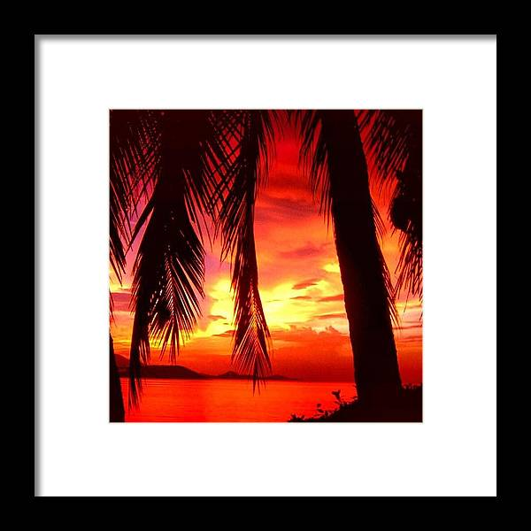 Iclandscapes Framed Print featuring the photograph Tropical Sunset - Thailand by Luisa Azzolini