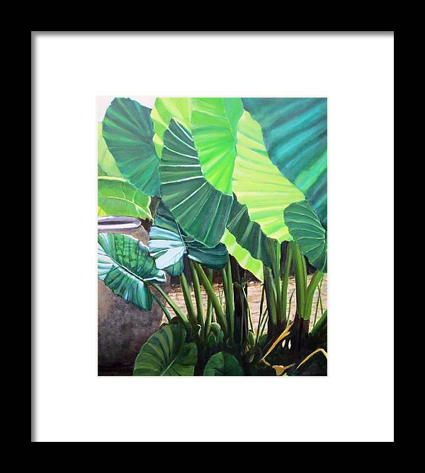 Greens Framed Print featuring the painting Tropical Translucence by Patricia Devitt