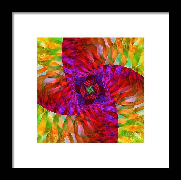 Tropical Twist Framed Print featuring the digital art Tropical Twist by Elizabeth McTaggart