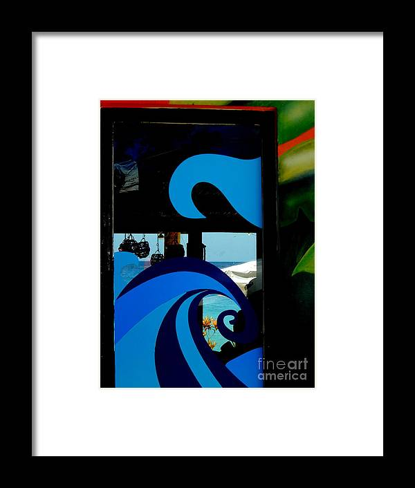 Mexico Photos Framed Print featuring the photograph Tropical Waves Of Blue In Puerta Maya Cozumel Mexico by Michael Hoard