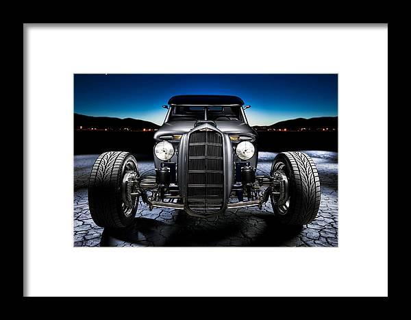Car Framed Print featuring the photograph Millers Chop Shop 1964 Truckster Frontend by Yo Pedro