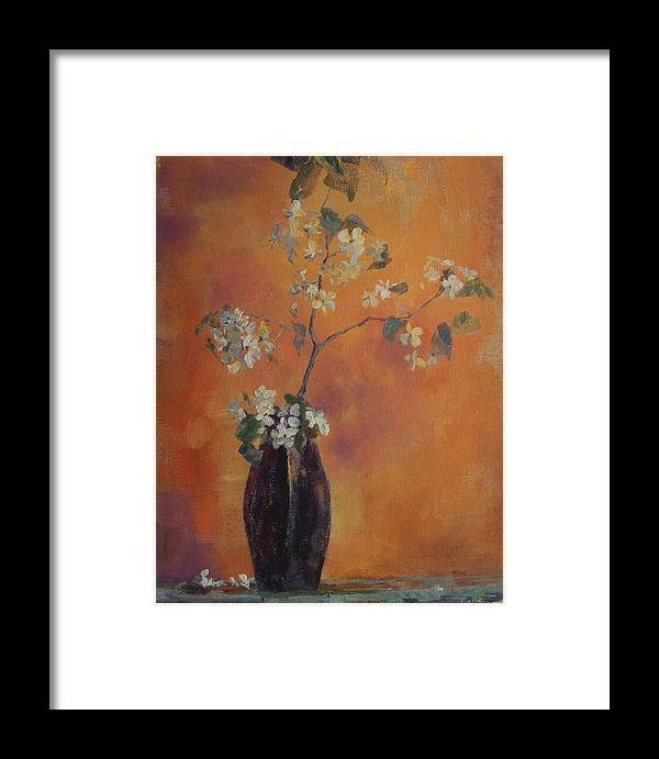 Still Life Framed Print featuring the painting Trudi's Vase by Terri Messinger