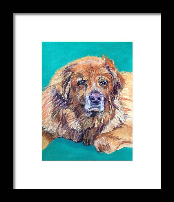 A Sweet Old Guy Framed Print featuring the pastel True Companion by Julie Maas