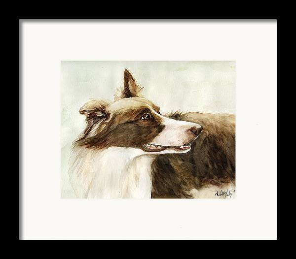 Border Collie Framed Print featuring the painting True Devotion by Charlotte Yealey