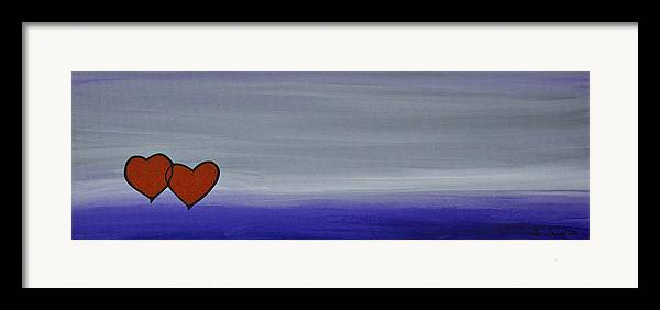 Hearts Framed Print featuring the painting True Love by Sharon Cummings