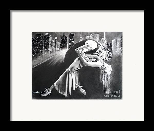 Romance Framed Print featuring the drawing True Romance by Carla Carson