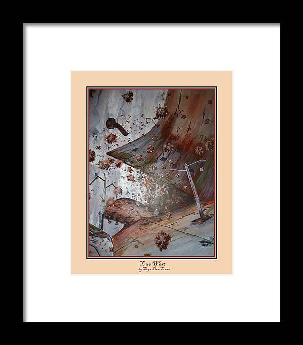 Abstract Framed Print featuring the painting True West Print by Tioga Dan Sloane