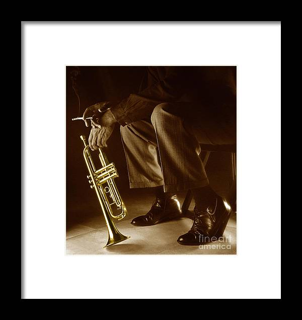 Trumpet Framed Print featuring the photograph Trumpet 2 by Tony Cordoza