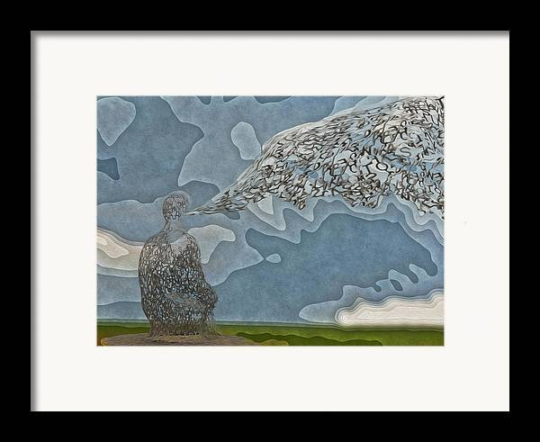 Abstract Framed Print featuring the painting Trying To Find The Right Words by Jack Zulli