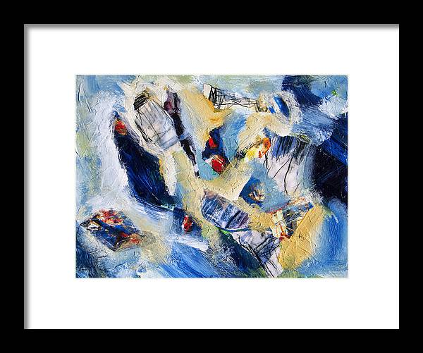 Abstract Framed Print featuring the painting Tsunami 2 by Dominic Piperata