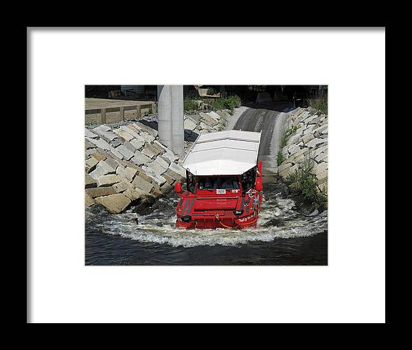 Boat Framed Print featuring the photograph Tub Of The Hub Splash Down by Barbara McDevitt