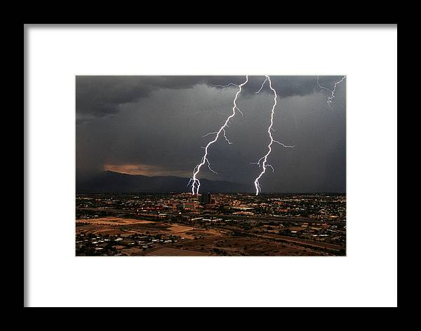 Tucson Framed Print featuring the photograph Tucson Double by Eric Joyce