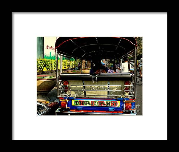 Bangkok Framed Print featuring the photograph Tuk Tuk by Eclectic Captures