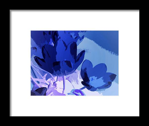 Floral Abstract Framed Print featuring the photograph Tulip Abstract 2 by Sharon Lisa Clarke