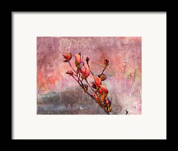 J Larry Walker Framed Print featuring the digital art Tulip Tree Budding by J Larry Walker