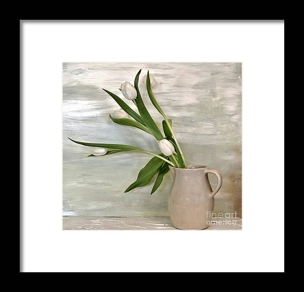 Photo Framed Print featuring the painting Tulips Dancing by Marsha Heiken