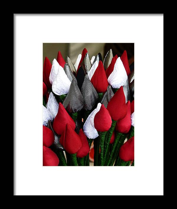 Silk Framed Print featuring the photograph Tulips For Sale by Steve Taylor