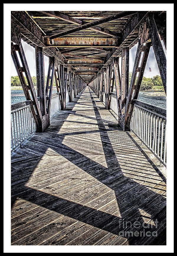 Tulsa Framed Print featuring the photograph Tulsa Pedestrian Bridge by Tamyra Ayles