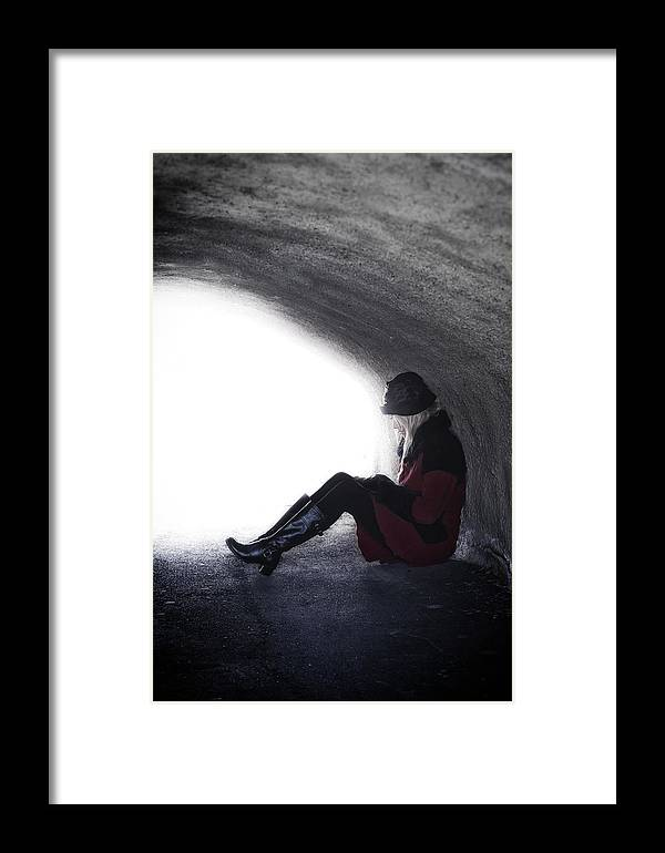 Woman Framed Print featuring the photograph Tunnel by Joana Kruse