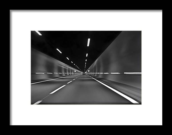Tunnel Framed Print featuring the photograph Tunnel Vision by Daniel Ward