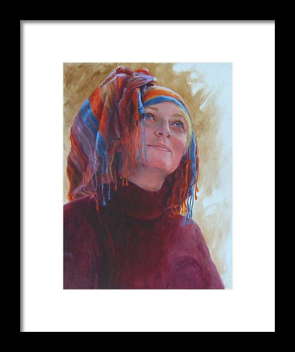 Figurative Framed Print featuring the painting Turban 1 by Connie Schaertl