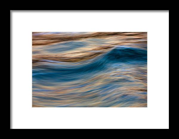 Abstract Framed Print featuring the photograph Turbulence Water And Color 73a9760 by David Orias