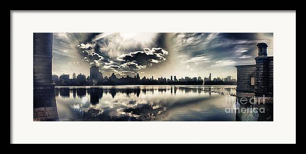 New York Central Park Framed Print featuring the photograph Turbulent Afternoon by Nishanth Gopinathan