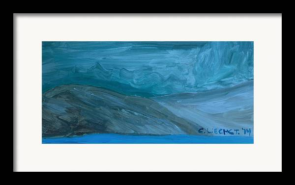 Arctic Framed Print featuring the painting Turbulent Skies And A Glacier by Carolina Liechtenstein