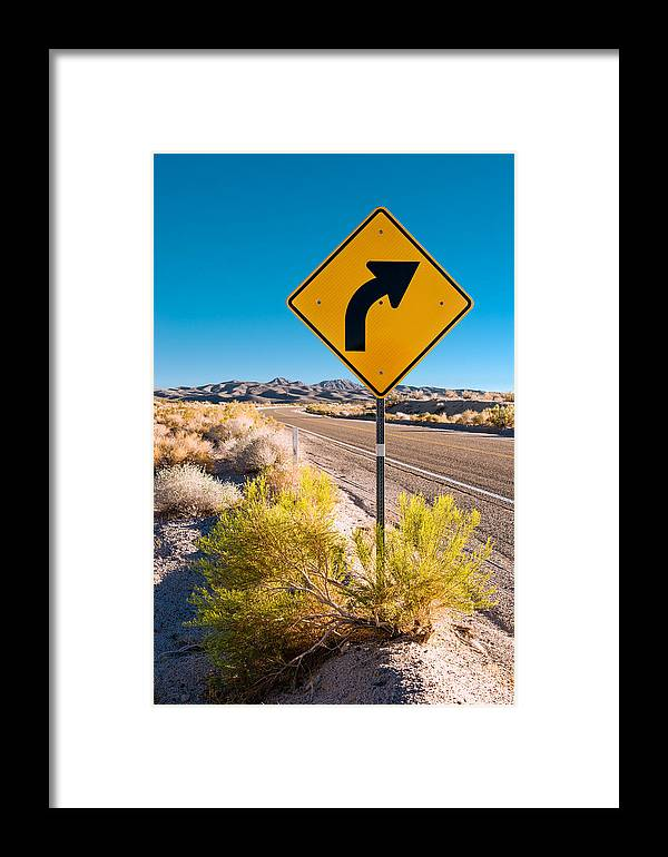 Landscape Framed Print featuring the photograph Turn There #2 by Alyaksandr Stzhalkouski