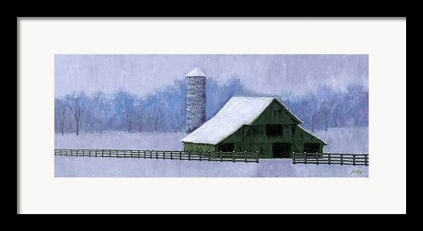 Barn Framed Print featuring the painting Turner Barn In Brentwood by Janet King