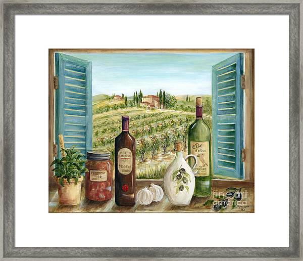Tuscan Delights Framed Print By Marilyn Dunlap