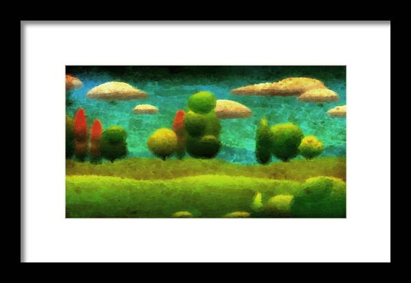 Tuscany Framed Print featuring the digital art Tuscan Landscape by Milton Thompson