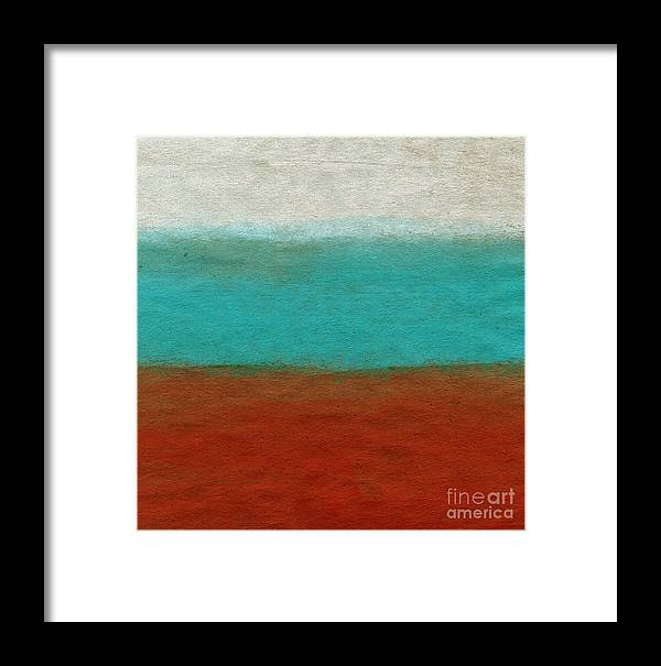 Abstract Landscape Framed Print featuring the painting Tuscan by Linda Woods