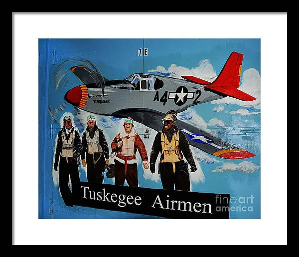 Redtails Framed Print featuring the photograph Tuskegee Airmen by Leon Hollins III