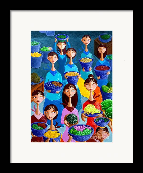 Fruits Framed Print featuring the painting Tutti Frutti by Paul Hilario
