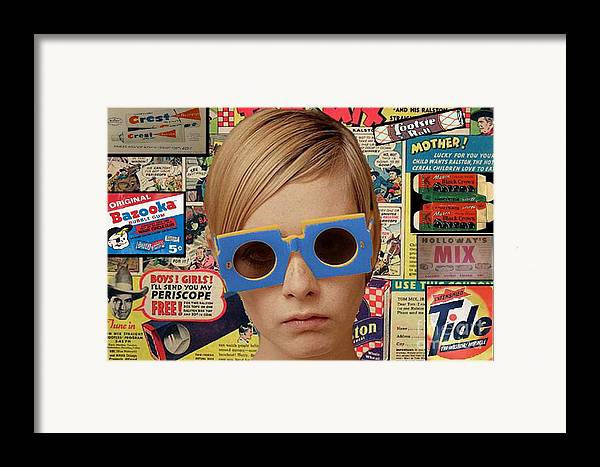 Twiggy Framed Print featuring the digital art Twiggy Pop by Chandler Douglas