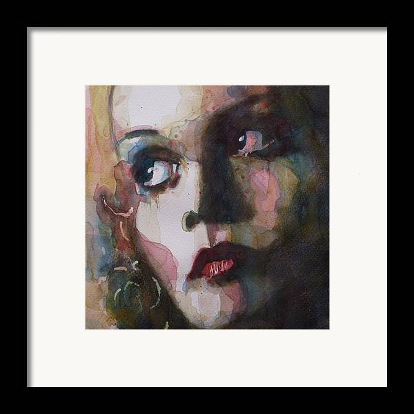 Twiggy Framed Print featuring the painting Twiggy Where Do You Go My Lovely by Paul Lovering