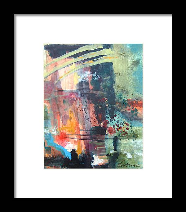 Abstract Framed Print featuring the painting Twilight I by Vicki Brevell