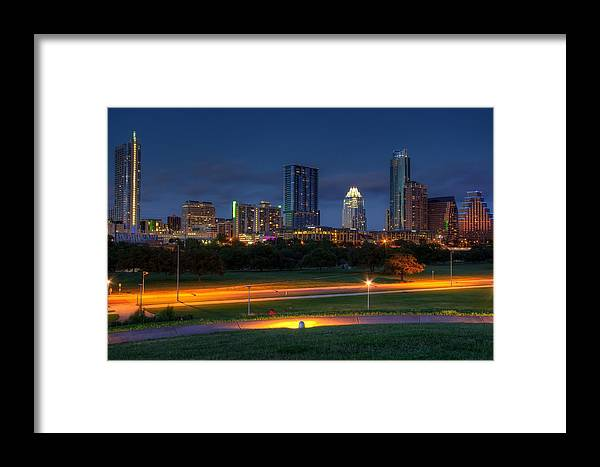 City Framed Print featuring the photograph Twilight Skyline by Dave Files
