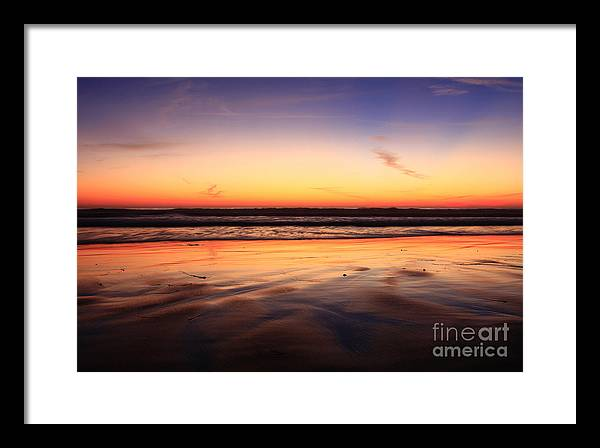 Sunset Framed Print featuring the photograph Cardiff By The Sea Glow by John F Tsumas